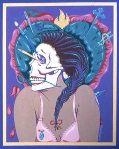 mujer calavera